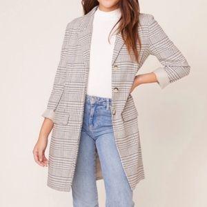 *NWT* BB DAKOTA | plaid boyfriend blazer coat S